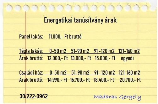 Energetikai tanúsítvány 22 - XXII